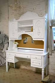 Shabby Chic Secretary Desk painted cottage chic shabby romantic french desk and hutch top