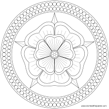 excellent print roses mandalas coloring page with mandala coloring