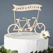 bicycle cake topper custom names bicycle wedding cake topper light paper