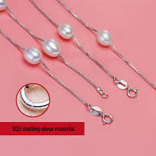 pearl necklace silver chain images 2017 new addition fashionable natural pearl jewelry choker jpg