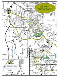 Pennsylvania Cities Map by Ellwood City U2013 Route 76 New Castle Area Transit Authority