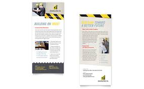 industrial u0026 commercial construction rack card template word