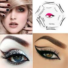 6in1 eyeliner stencil makeup cosmetic quick smoky cat eye liner