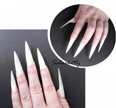 flat style pointed nails costume pointy nail saburkitty