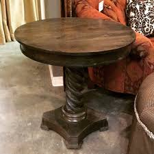 Pedestal Accent Table Mango Wood Accent Table With Barley Twist Pedestal Invio Fine