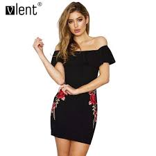 aliexpress com buy vlent floral embroidery bodycon dresses