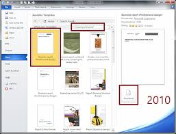 report templates for word 2010 template examples