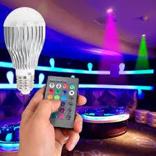 e27 rgb color changing led l light bulb w 24 key ir remote