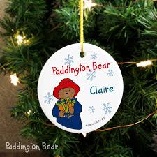 paddington bear christmas round ceramic decoration