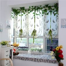 Butterfly Kitchen Curtains Fabulous Cute Butterfly Curtain With Elegant Plants And Beautiful