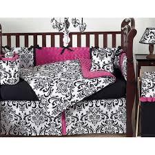 Damask Crib Bedding Sets Damask Modern Crib Bedding Set Pink Black Ababy