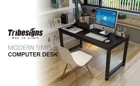Modern Computer Desks by Amazon Com Tribesigns Computer Desk 55