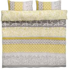 yellow taupe grey floral birds stripe kingsize duvet cover set