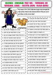 word order esl printable worksheets and exercises