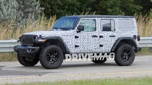 2018 jeep 2018 jeep wrangler rubicon spied sporting minimal camo