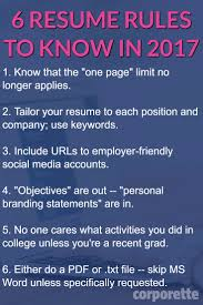 Branding Statement For Resume Resume Rules For 2017 That You May Not Know About