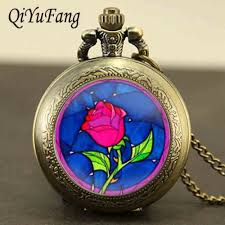 online buy wholesale beauty and the beast rose necklace from china