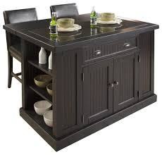 pennfield kitchen island enthralling powell pennfield distressed black kitchen island