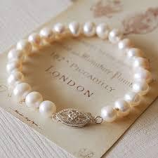 wedding bracelet pearl images Vintage style pearl bracelet by highland angel jpg