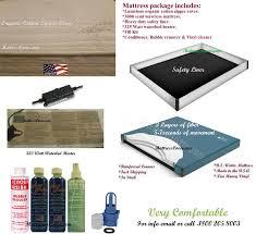 california king semi wave hardside waterbed mattress package