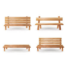 cartoon of the antique wood benches clip art vector images