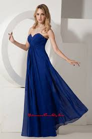 royal blue empire sweetheart beading mother dress floor length