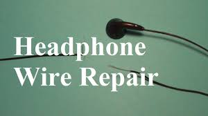 how to repair headphone wires youtube