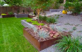 adorable design modern landscaping ideas with rectangle shape