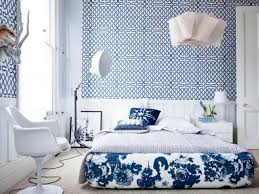 eclectic bedroom with wallpaper and platform bed fantastic funky