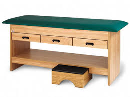 hausmann hand therapy table hausmann model 4298 treatment table with pull out footstool