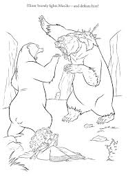 brave coloring pages bear and merida coloringstar