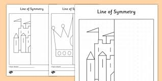 crowns and castles symmetry activity sheets symmetry maths