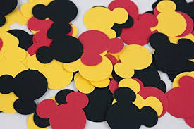 Black And Red Party Decorations Amazon Com 100 Black Red U0026 Yellow Mickey Confetti Paper Mickey