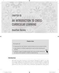 an introduction to cross curricular learning