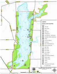 Indiana State Parks Map by Prairie Creek Reservoir