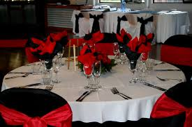 red black and white wedding decor pictures decorating of party