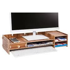 Decorative Desk Organizer Decorative Wooden Storage Boxes Desktop Organizer Monitor Stand
