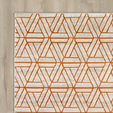 Modern Orange Rugs Contemporary Modern Grey With Orange Indoor Area Rug In Gray And
