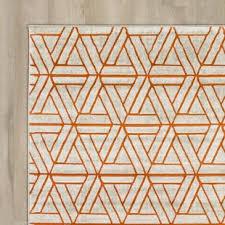 Modern Orange Rug Impressive Grey And Orange Wool Cotton Area Rug For Gray At