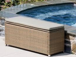 Patio Storage Bench Amazing Of Wicker Storage Bench Outdoor Outdoor Wicker Storage