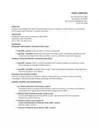 high school resume exceptional objective for highchool resume templatestudents
