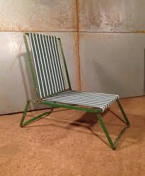 pair of metal frame folding garden chairs artistic industrial