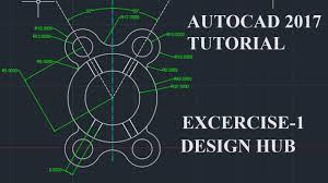 autocad tutorial autocad tutorial exercise 1 youtube