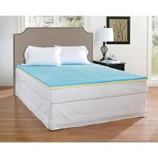 Beautyrest Gel Memory Foam Mattress Topper Mattress Toppers U0026 Pads Bedding The Home Depot