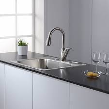 kraus pull out kitchen faucet kraus kpf 2121 single lever stainless steel pull out kitchen