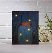 lighted canvas art with timer radiance lighted canvas firefly jar with timer shelley b home and