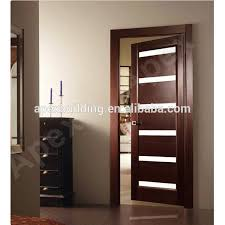 home doors interior solid wood veeneer door laminated glossy white oak finished