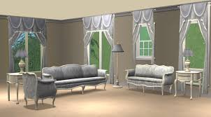 mod the sims blue damask livingroom sets