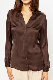 brown blouse brown v neck blouse just 5