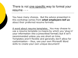 Preferred Resume Font Resume Basics How To Format Your Resume Formatting Your Resume